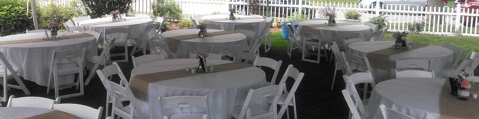 Party rentals in Livingston County and Washtenaw County